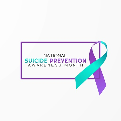 Suicide Prevention Awareness Month Vector Illustration. Good for greeting card, poster and banner